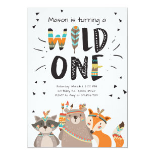 wild one invitations announcements zazzle uk