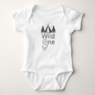 Wild One Tribal Teepee Dreamcatcher 1st Birthday Baby Bodysuit