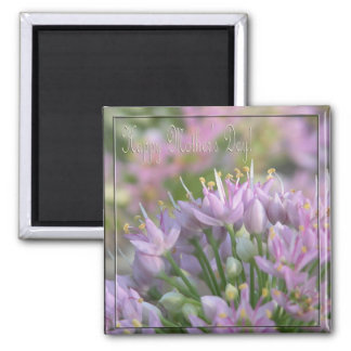 Wild Onions/ Happy Mother's Day Square Magnet