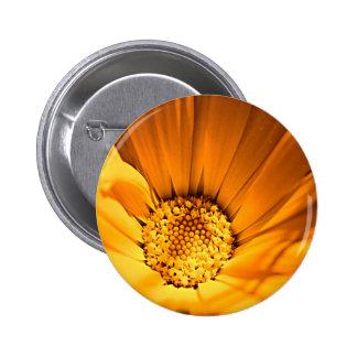 Wild Orange Daisy 6 Cm Round Badge