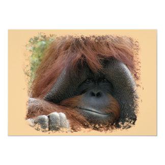 "Wild Orangutan Birthday Party Invites 5"" X 7"" Invitation Card"