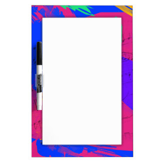 Wild Paint Brush Colors and Music Sheets Dry Erase Whiteboards