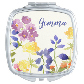 Wild Painted Flower Personalised Compact Mirro Mirror For Makeup