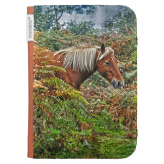Wild Palomino New Forest Ponies Horse-lover Gift Case For Kindle