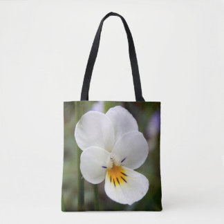 Wild Pansy All Over Print Tote Bag