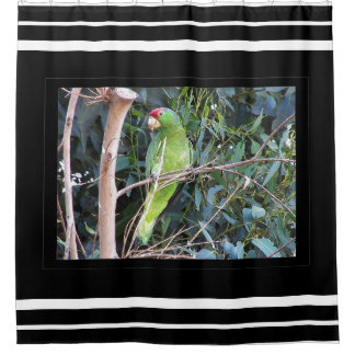 Wild Parrot Bird Wildlife Animals Tree Photography Shower Curtain