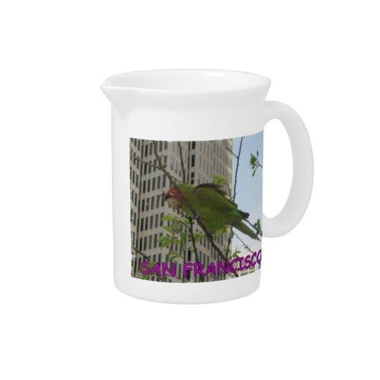 Wild Parrot Drink Pitcher