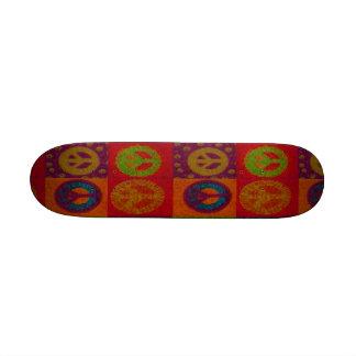 Wild Peace Signs ~ Skateboard Retro
