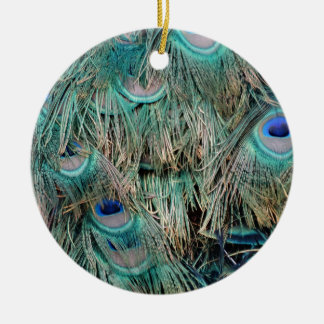 Wild Peacock Feathers Lovely Colors Christmas Ornament