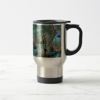 Wild Peacock Feathers Lovely Colors Travel Mug