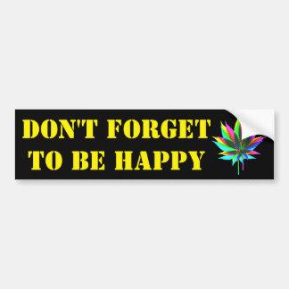Wild Plant Leafs - neon colored + your ideas Bumper Sticker