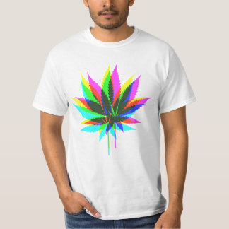Wild Plant Leafs - neon colored + your ideas T-Shirt