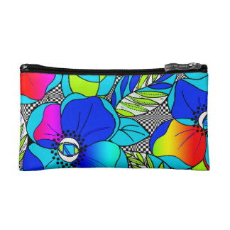 Wild Poppies Cosmetic Bags