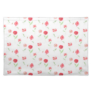 Wild poppies pattern placemat