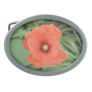 Wild Poppy Flower Belt Buckle