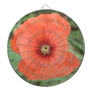 Wild Poppy Flower Dart Board