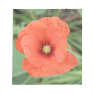 Wild Poppy Flower Notepad
