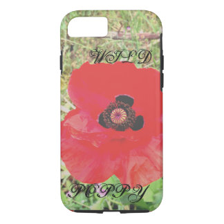 Wild poppy phone case