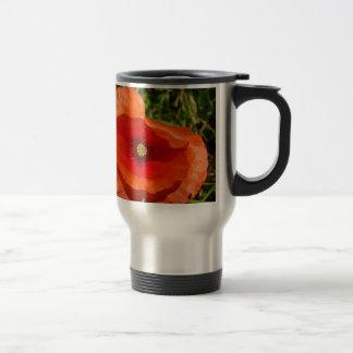 Wild poppy travel mug
