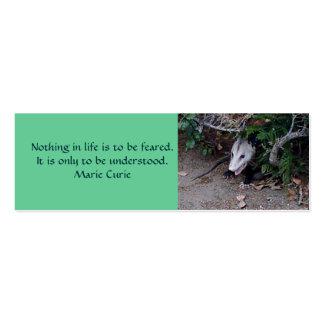 Wild Possum, Mini Bookmarks Business Card