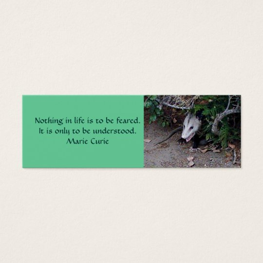 Wild Possum, Mini Bookmarks Mini Business Card