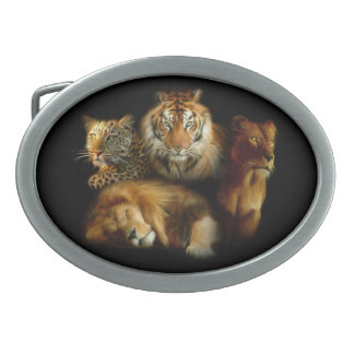 Wild Predators Oval Belt Buckle
