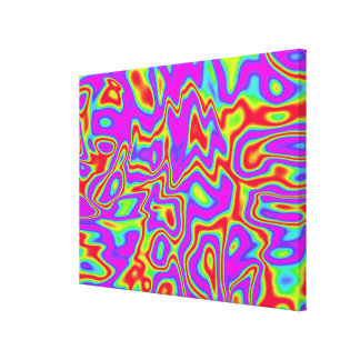 Wild Psychedelic Liquid Colors Gallery Wrapped Canvas