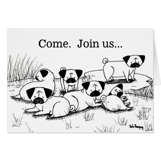Wild Pug Grumble Card