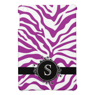 Wild Purple and White Zebra Stripes iPad Mini Cover