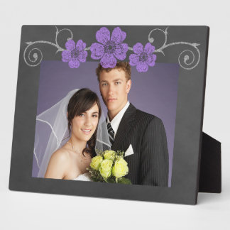 Wild Purple Roses Chalkboard Plaque