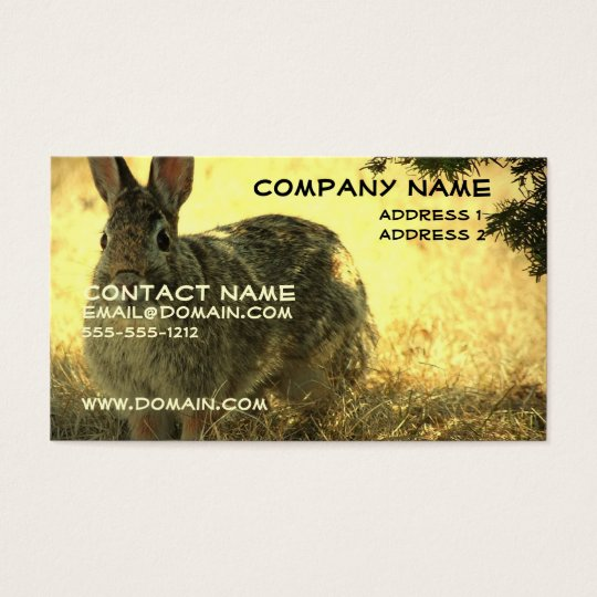 Wild Rabbit Business Card