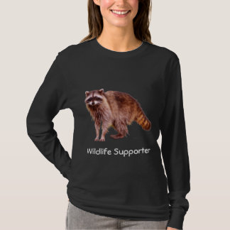 Wild Raccoon Cute Wildlife Design T-Shirt