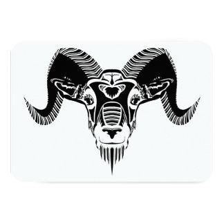 wild ram announcement card