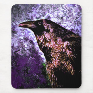 Wild Raven Mouse Pad by Artful Oasis