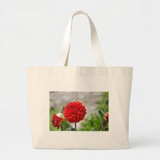 Wild red Dahlia Tote Bag