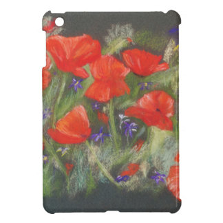 Wild red poppies display case for the iPad mini