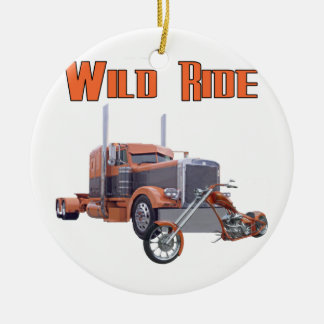 Wild Ride Round Ceramic Decoration