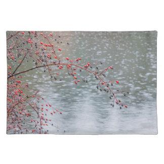 Wild Rose Tree Hanging a Pond | Seabeck, WA Placemat