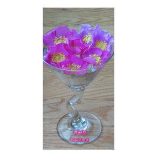 Wild Roses 8 x4 Photo Card