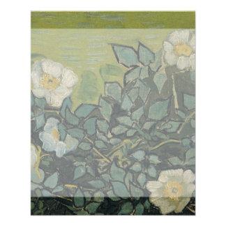 Wild Roses by Vincent Van Gogh 11.5 Cm X 14 Cm Flyer