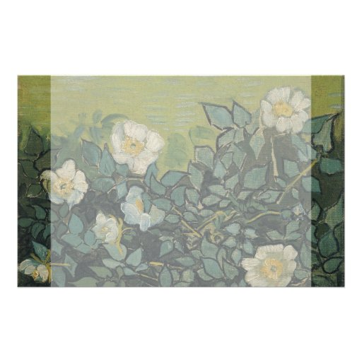 Wild Roses by Vincent Van Gogh Personalized Flyer