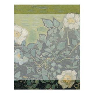 Wild Roses by Vincent Van Gogh Flyer Design
