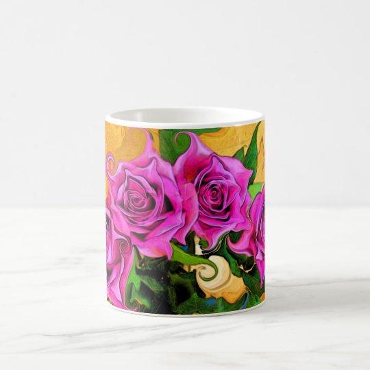 Wild Roses White 11 oz Classic Mug