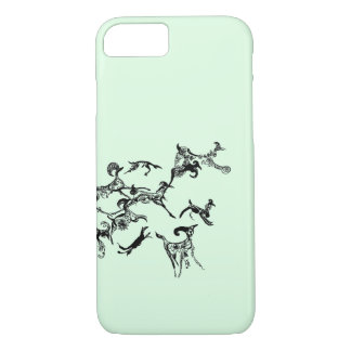 """Wild Run"" Graphic Doodle iPhone Case"