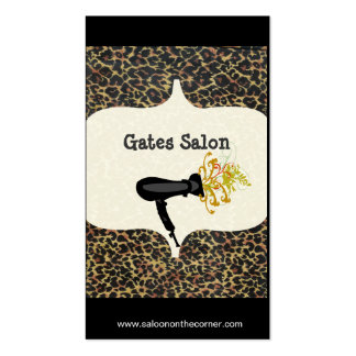 Wild Salon Spa Leopard Print  Hair Dryer  Salon Pack Of Standard Business Cards