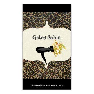 Wild Salon Spa Leopard Print  Hair Dryer  Salon Pack Of Standard Business Cards