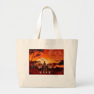 Wild Savanna Large Tote Bag