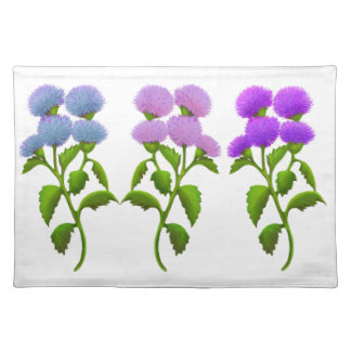 Wild Scottish Thistle Flowers Placemat