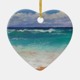 Wild Seascape Ceramic Heart Decoration