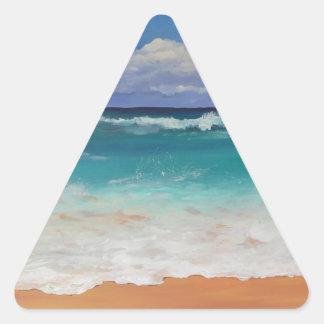 Wild Seascape Triangle Stickers